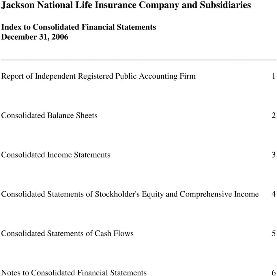 Consolidated Income Statements 3 Consolidated Statements of