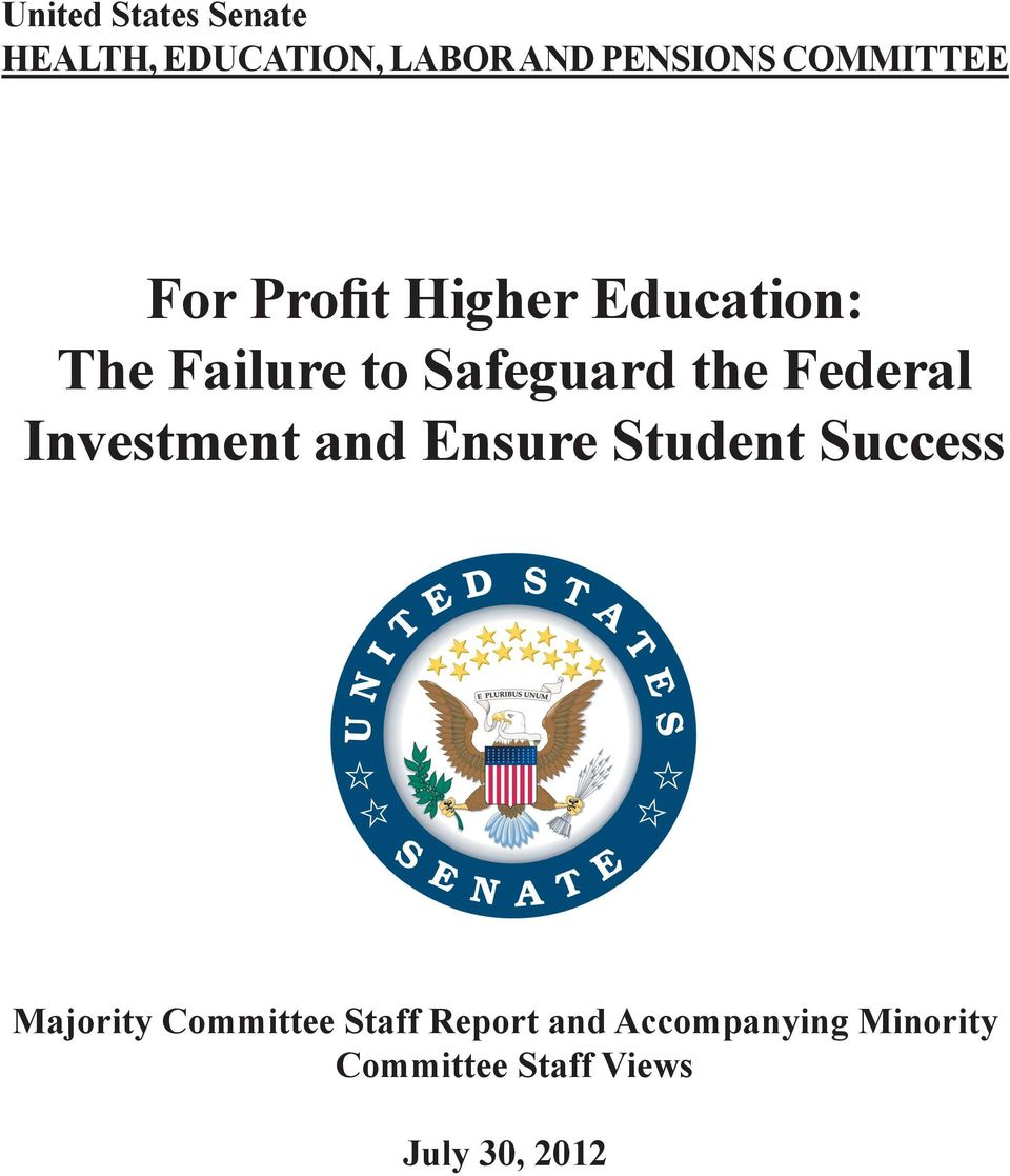 the Federal Investment and Ensure Student Success Majority