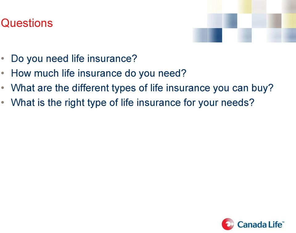 What are the different types of life insurance
