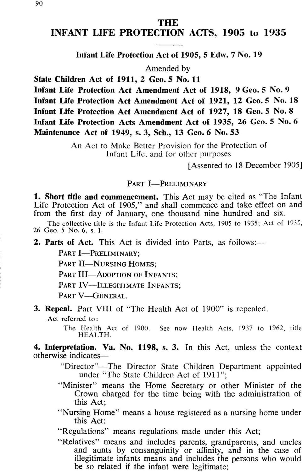 5 No.6 Maintenance Act of 1949, s. 3, Sch., 13 Geo. 6 No.