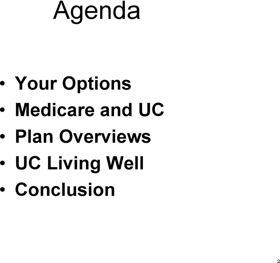 Plan Overviews UC