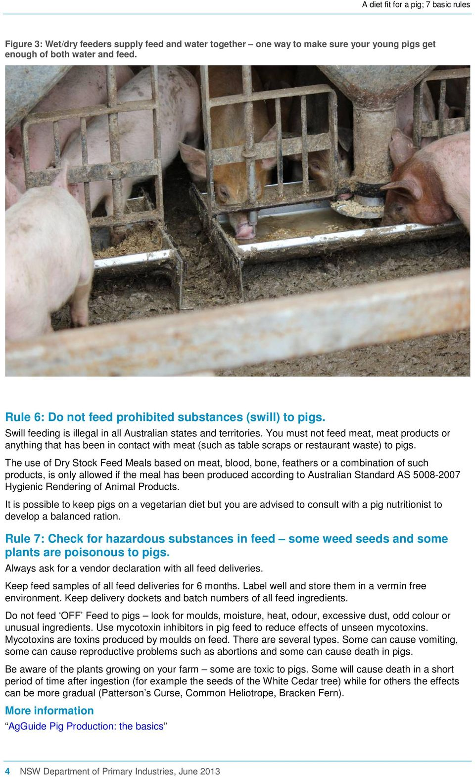 You must not feed meat, meat products or anything that has been in contact with meat (such as table scraps or restaurant waste) to pigs.