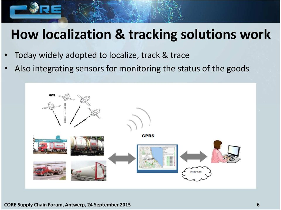 integrating sensors for monitoring the status of