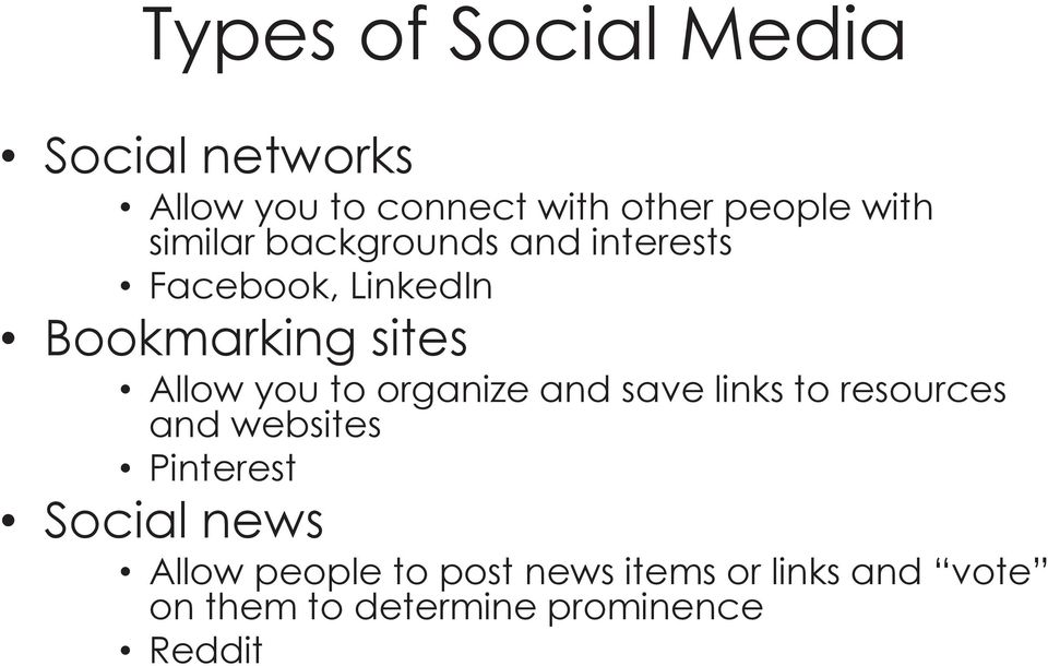 to organize and save links to resources and websites Pinterest Social news Allow