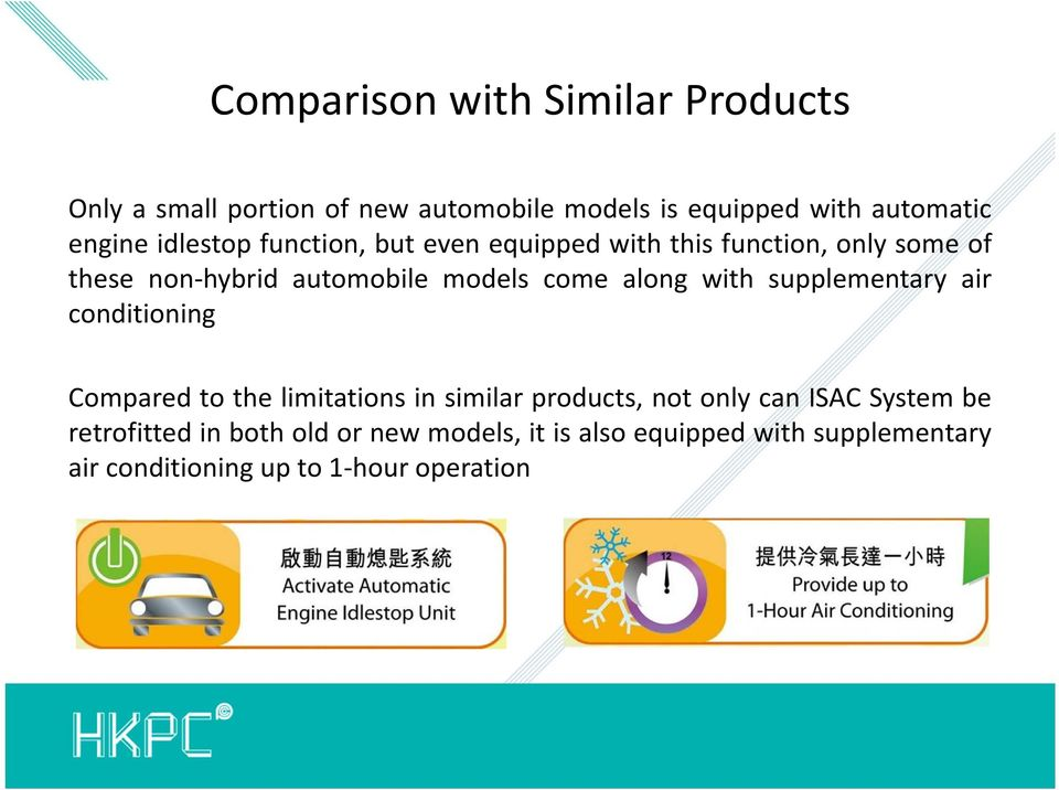along with supplementary air conditioning Compared to the limitations in similar products, not only can ISAC