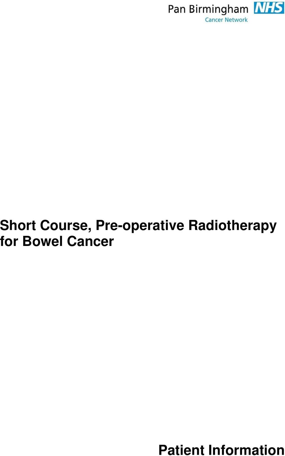 Radiotherapy for