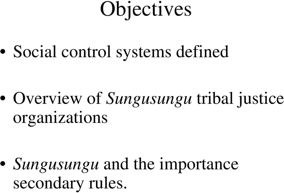 tribal justice organizations