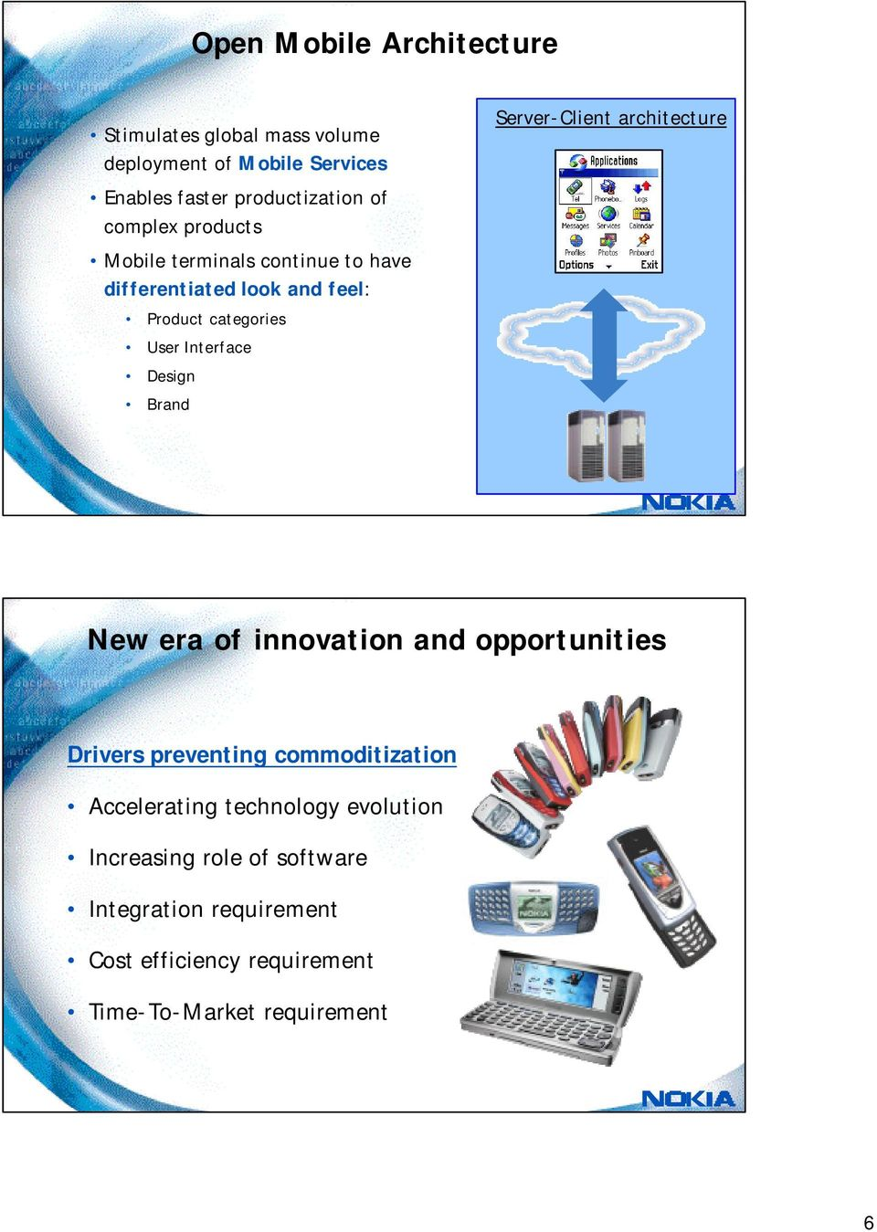 Brand Server-Client architecture New era of innovation and opportunities Drivers preventing commoditization Accelerating