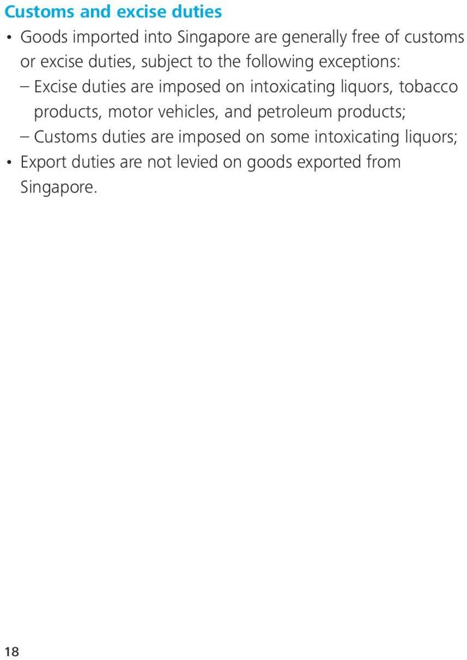 intoxicating liquors, tobacco products, motor vehicles, and petroleum products; Customs