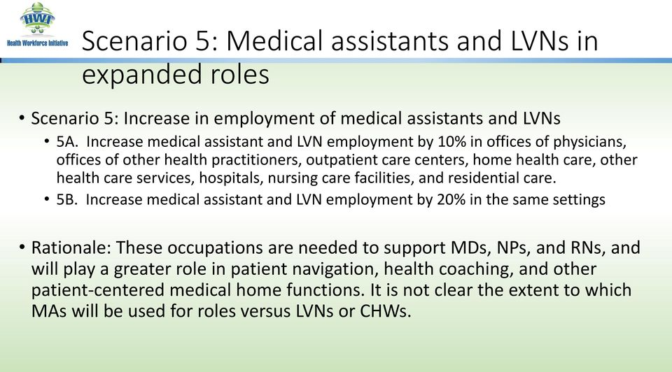 services, hospitals, nursing care facilities, and residential care. 5B.