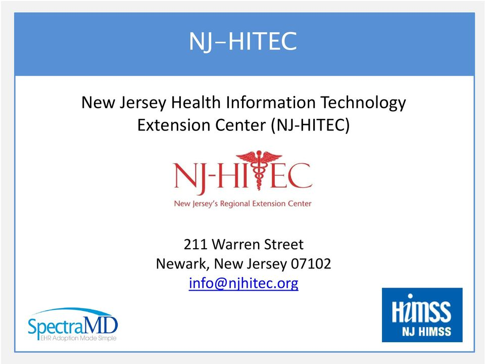 Center (NJ-HITEC) 211 Warren