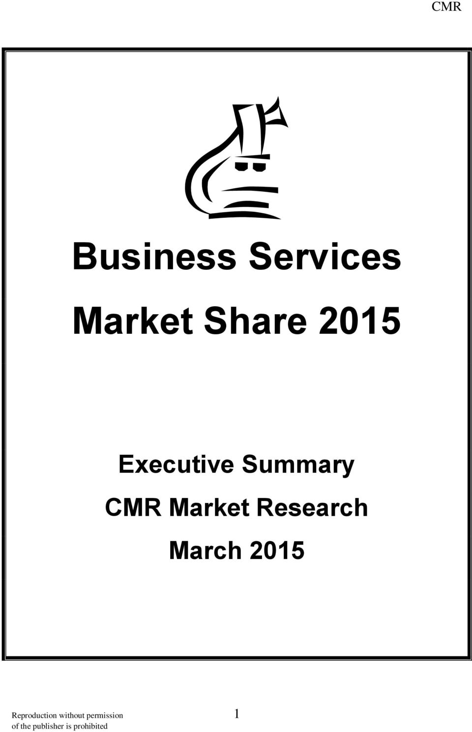 CMR Market Research March