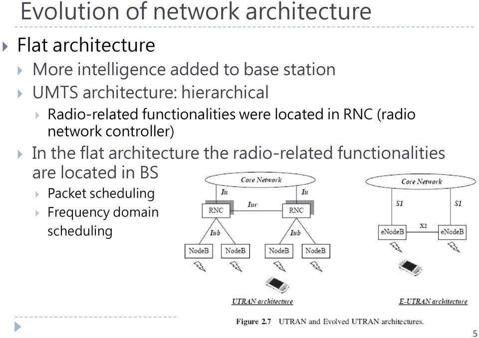 located in RNC (radio network controller) In the flat architecture the