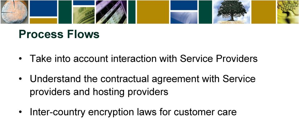 agreement with Service providers and hosting