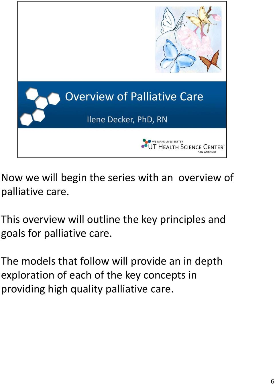 palliative care.