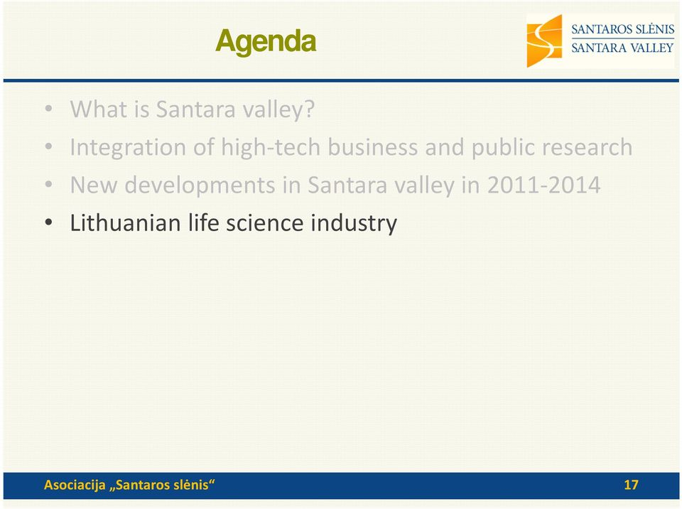 research New developments in Santara valley in