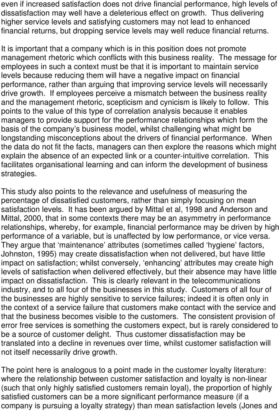 what is the relationship between customer loyalty and profitability