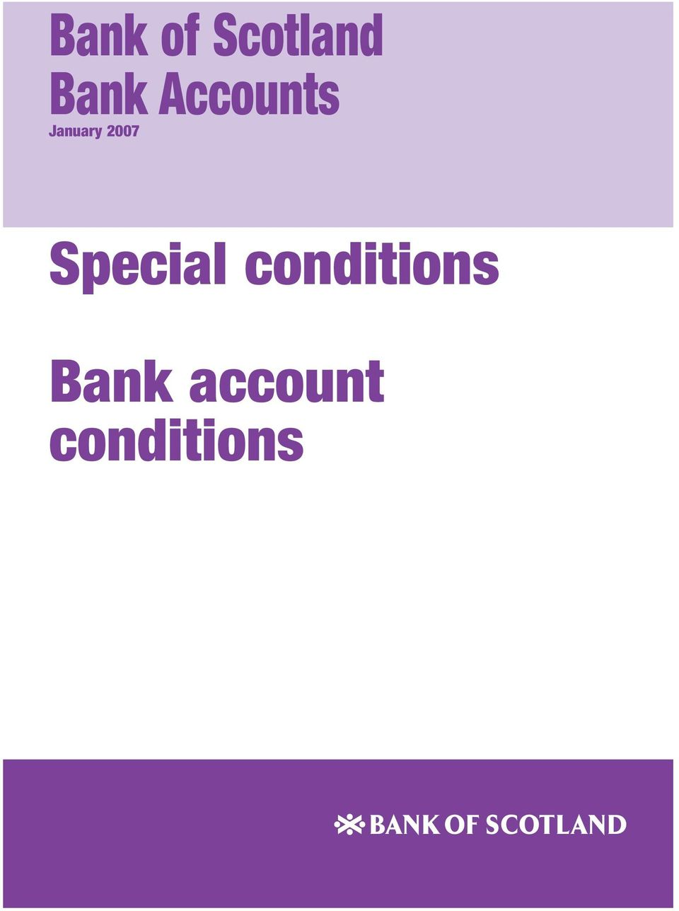 Special conditions Bank