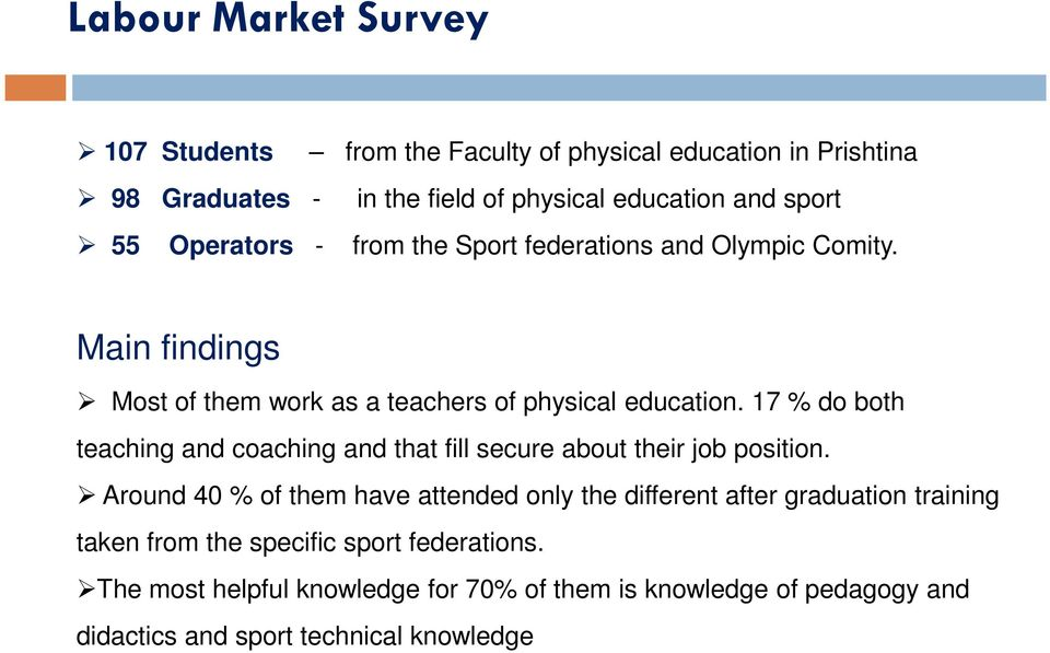 17 % do both teaching and coaching and that fill secure about their job position.