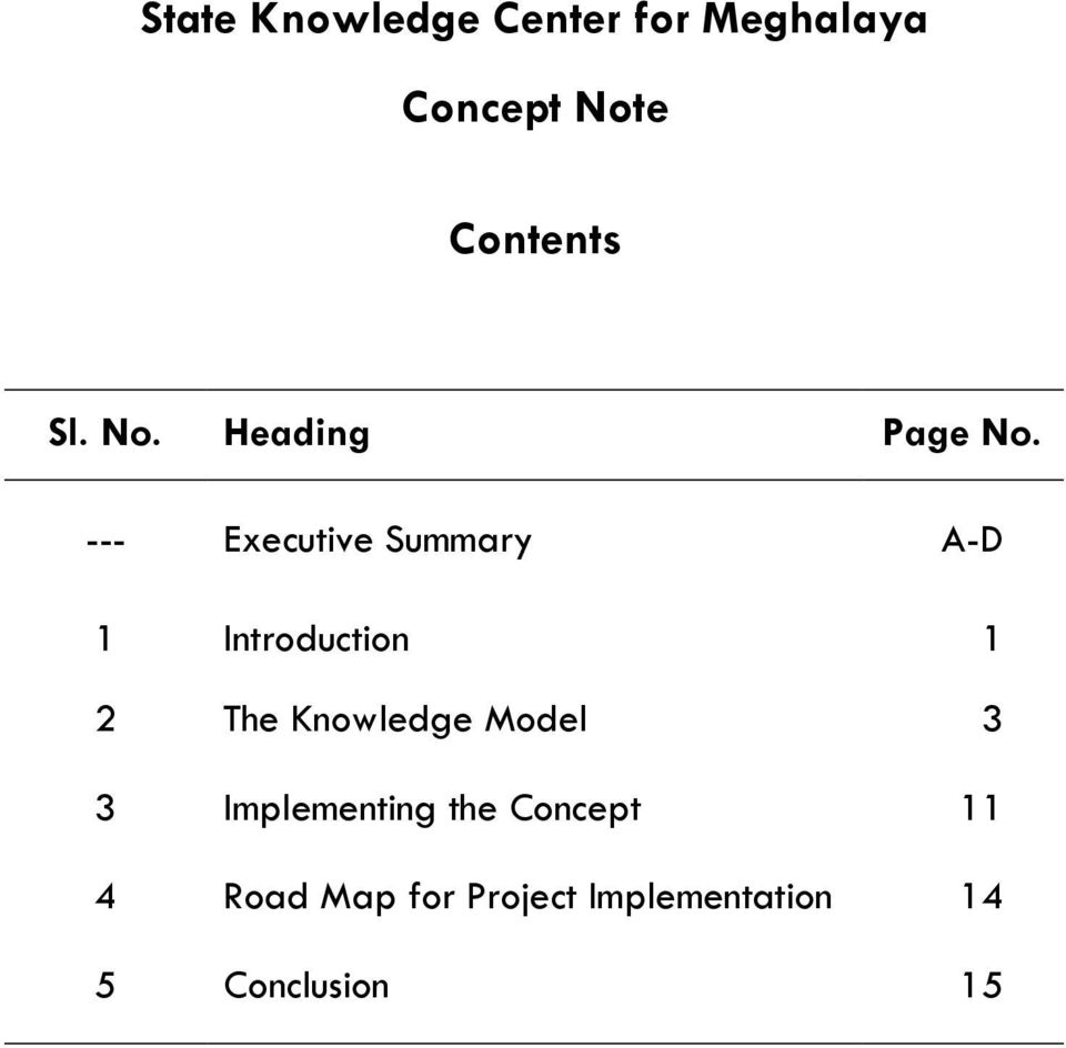 Knowledge Model 3 3 Implementing the Concept 11 4