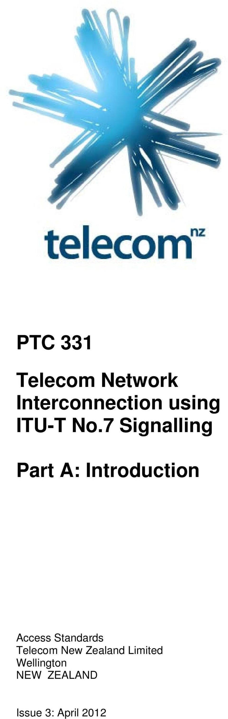 7 Signalling Part A: Introduction Access