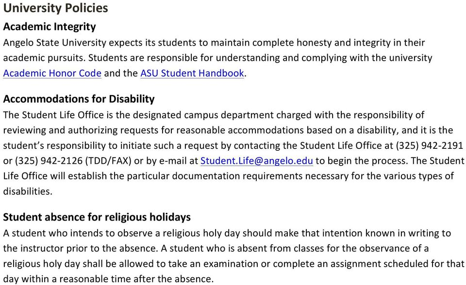 Accommodations for Disability The Student Life Office is the designated campus department charged with the responsibility of reviewing and authorizing requests for reasonable accommodations based on
