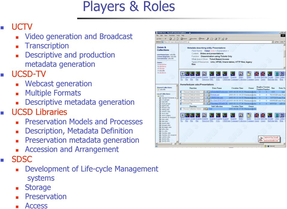 Preservation Models and Processes Description, Metadata Definition Preservation metadata generation