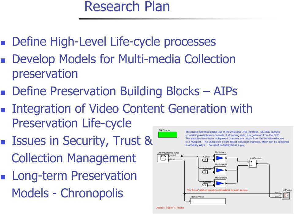 Integration of Video Content Generation with Preservation Life-cycle Issues