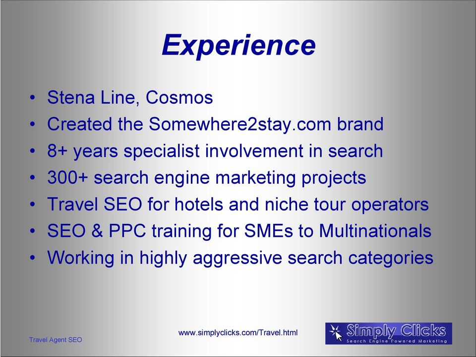 marketing projects Travel SEO for hotels and niche tour operators SEO &