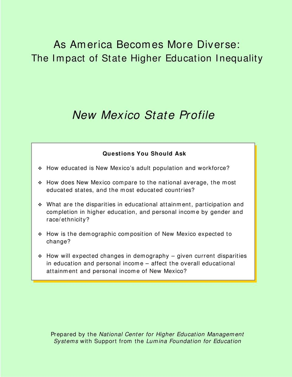 What are the disparities in educational attainment, participation and completion in higher education, and personal income by gender and race/ethnicity?