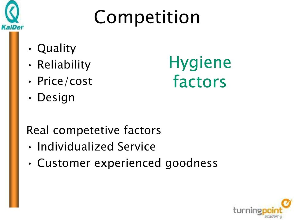 Real competetive factors