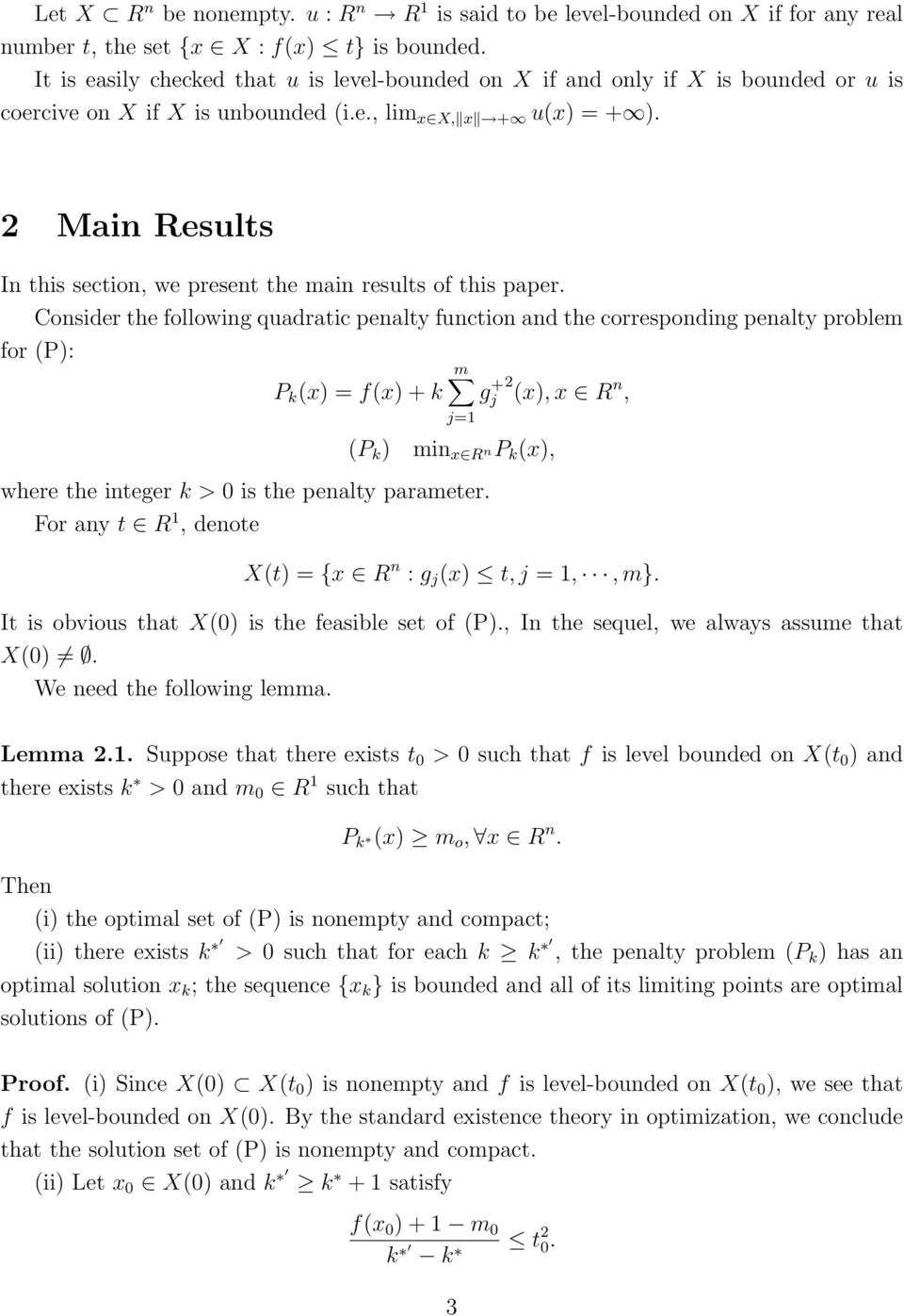 Main Results In this section, we present the main results of this paper.