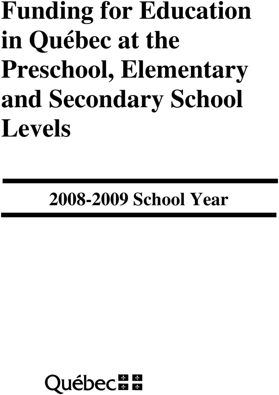 Elementary and Secondary