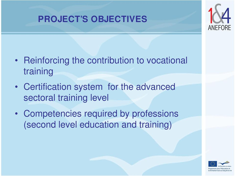 advanced sectoral training level Competencies