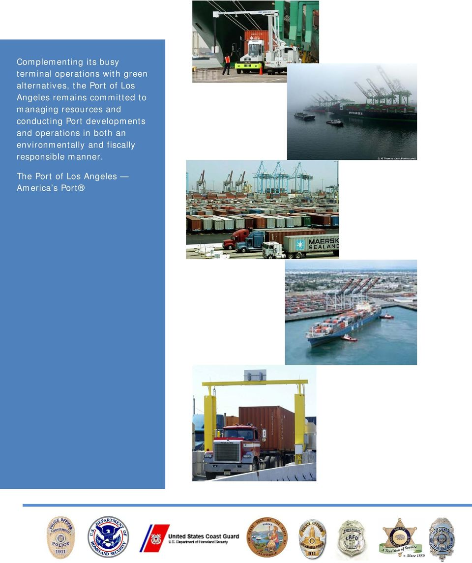 conducting Port developments and operations in both an
