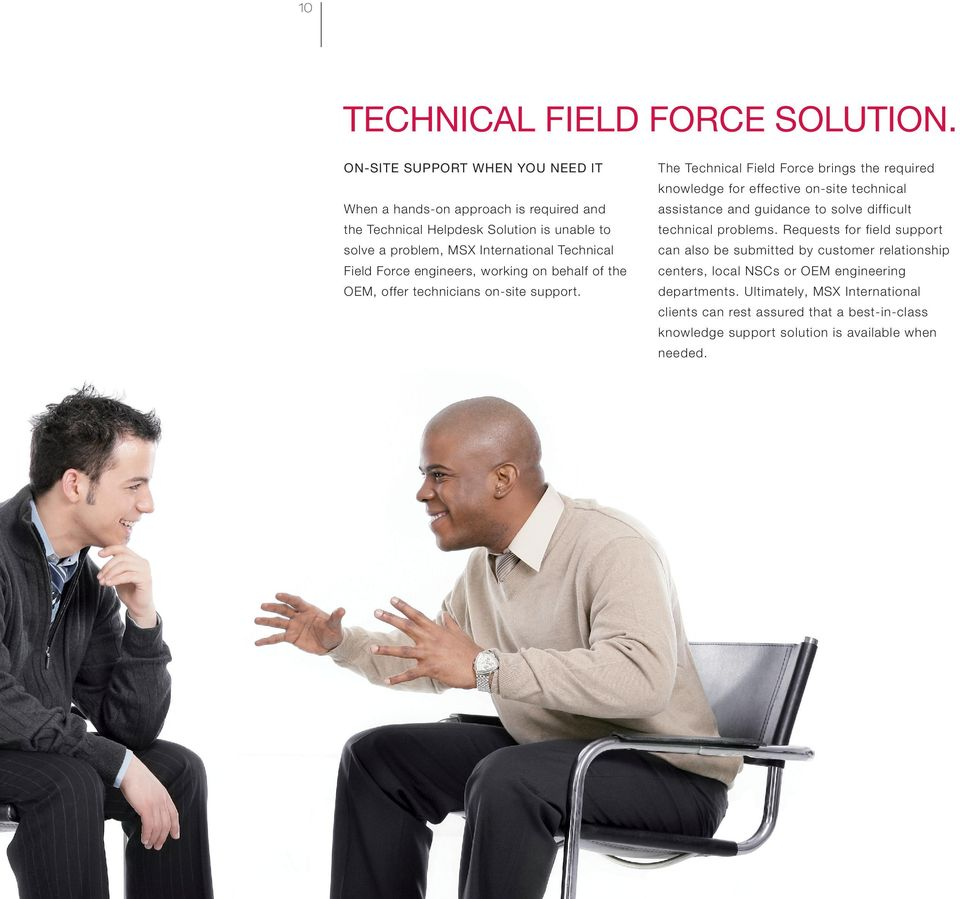 and guidance to solve difficult the Technical Helpdesk Solution is unable to technical problems.