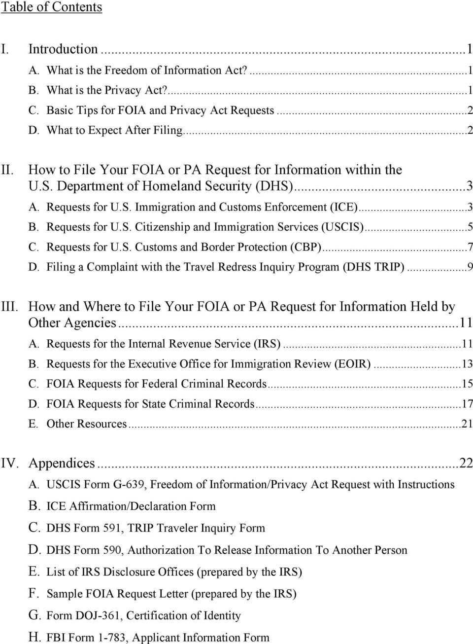freedom of information act form letter