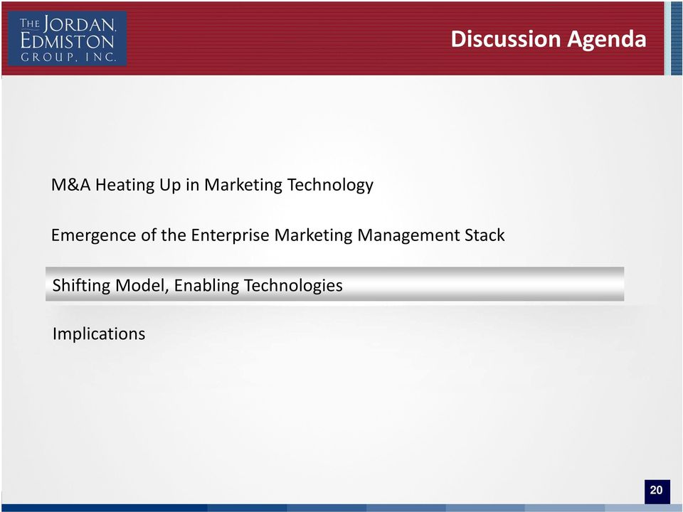 Marketing Management Stack Shifting Model,