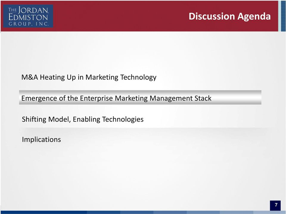 Enterprise Marketing Management Stack