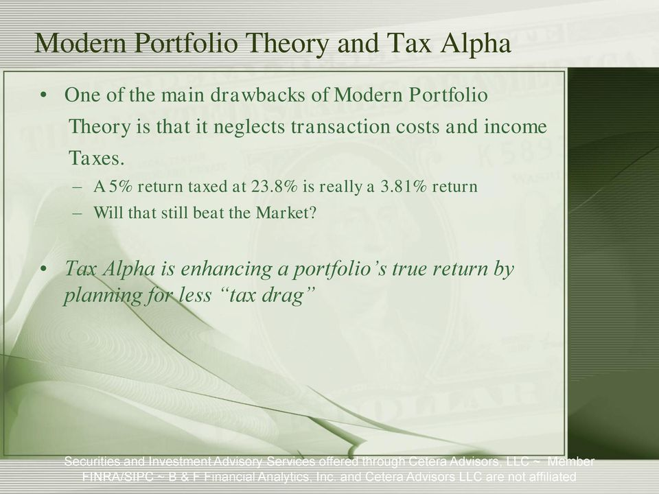 A 5% return taxed at 23.8% is really a 3.