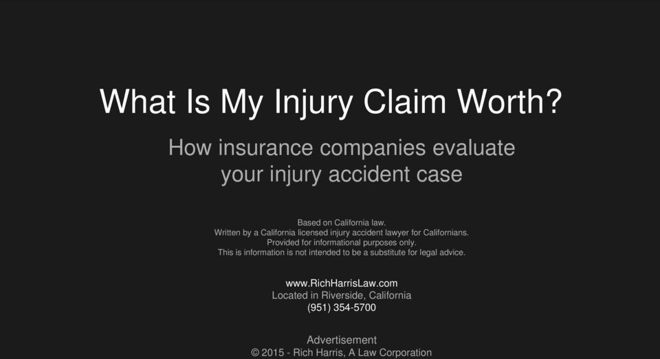 Written by a California licensed injury accident lawyer for Californians.