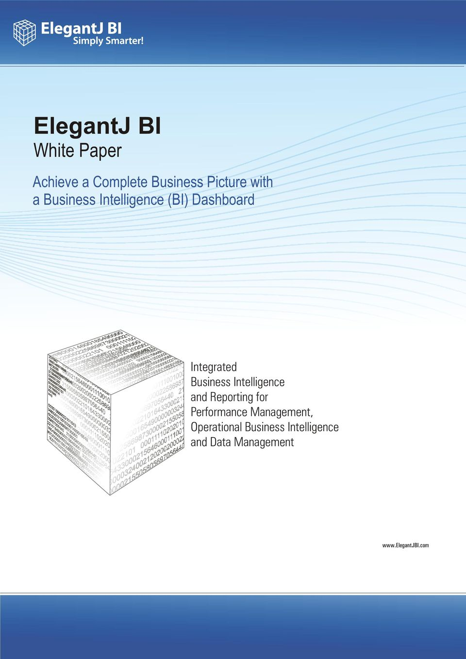 Business Intelligence and Reporting for Performance
