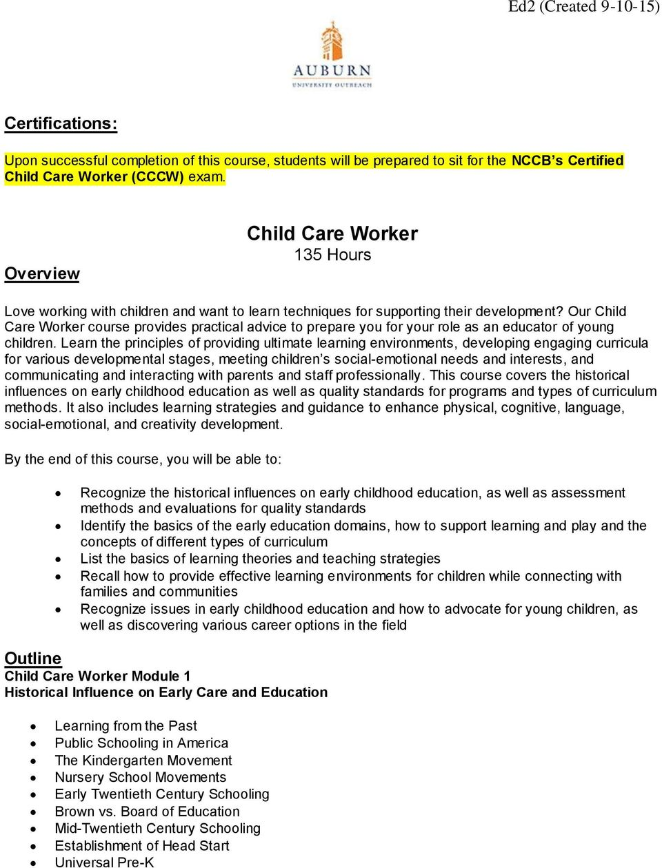 Our Child Care Worker course provides practical advice to prepare you for your role as an educator of young children.