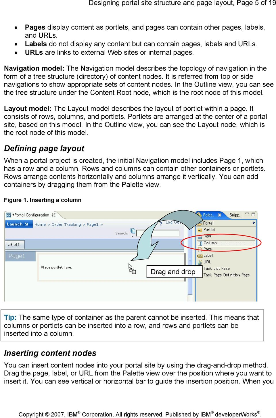 Navigation model: The Navigation model describes the topology of navigation in the form of a tree structure (directory) of content nodes.
