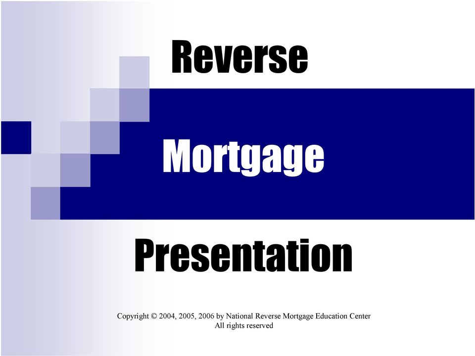 National Reverse Mortgage