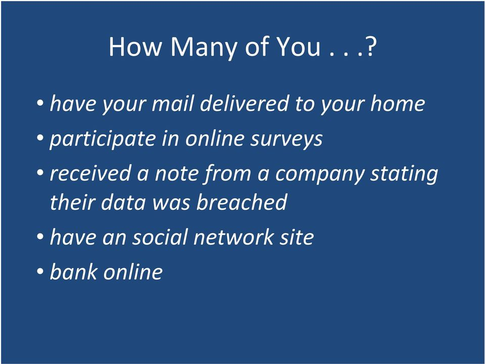 participate in online surveys received a note