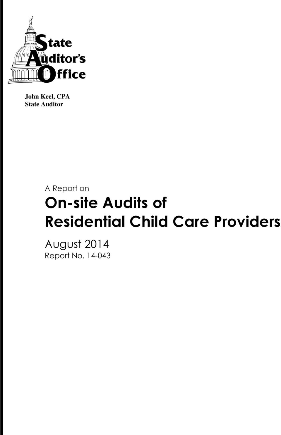 Audits of Residential Child