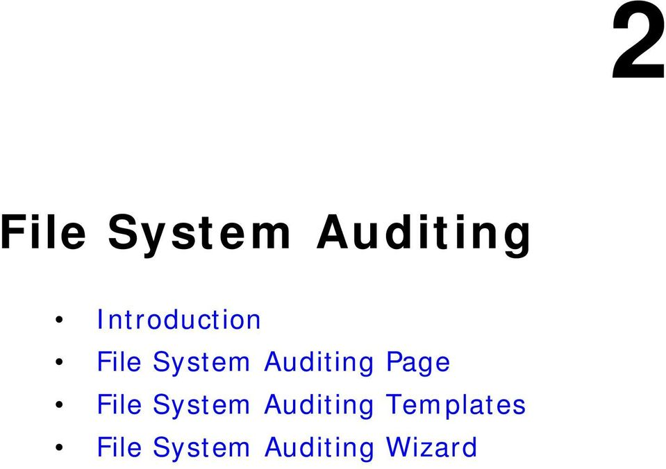 Auditing Page File System