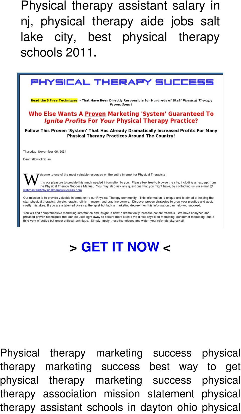 > GET IT NOW < Physical therapy marketing success physical therapy marketing success best