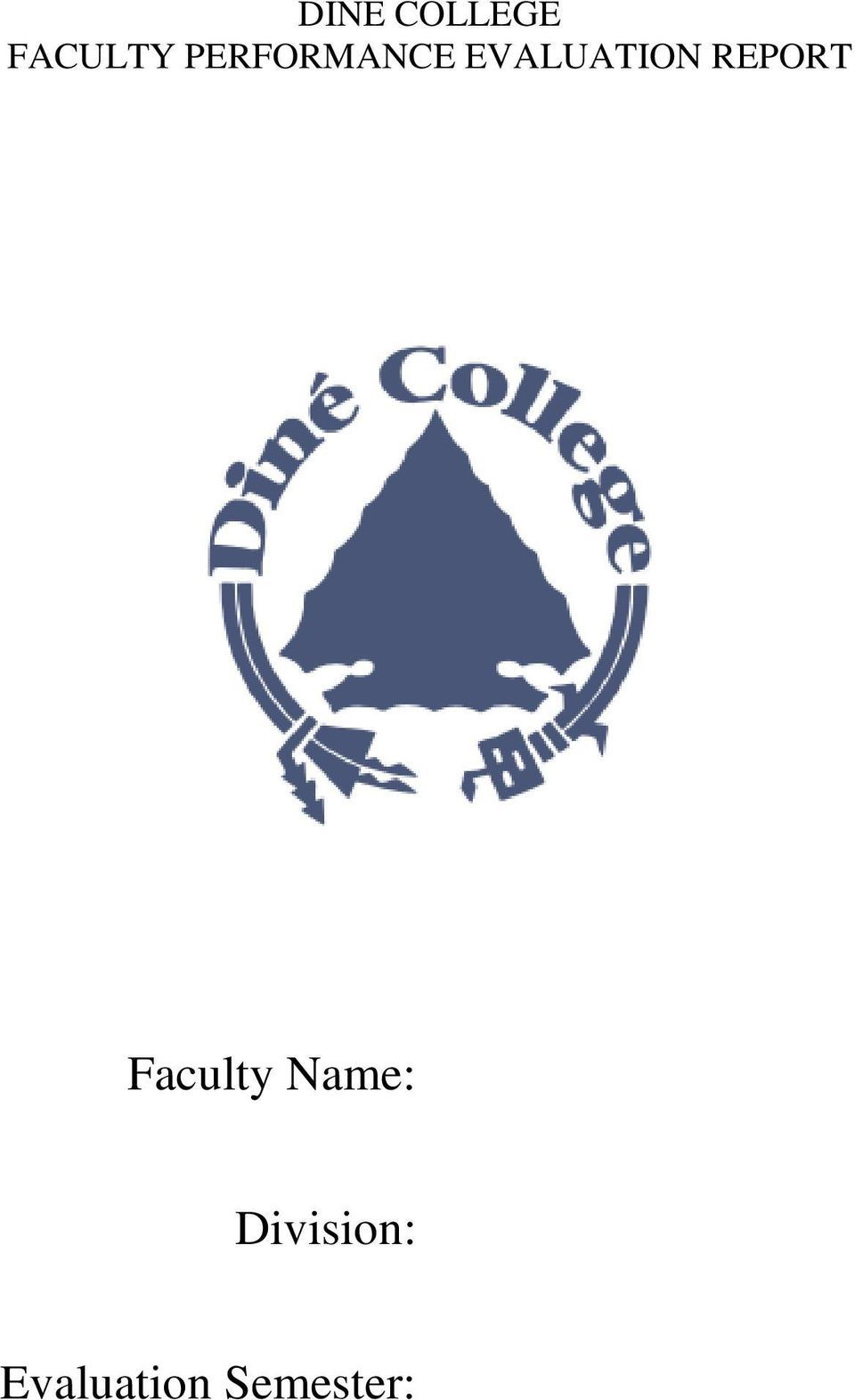 REPORT Faculty Name: